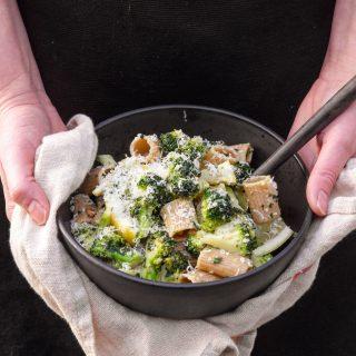 Pasta med sitron og brokkoli