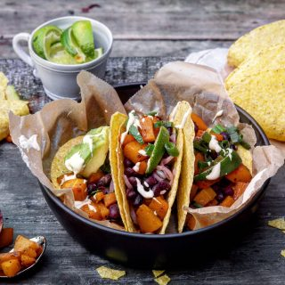 Vegetar taco med gresskar