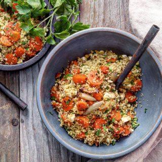 Couscoussalat med ovnsbakte gulrøtter