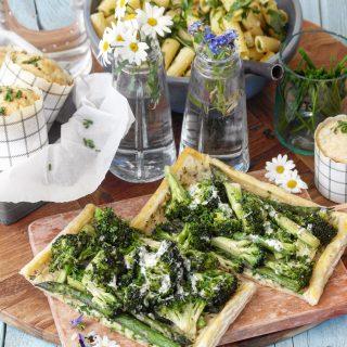 Asparges og brokkoli terte