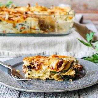 Lasagne med soppsaus