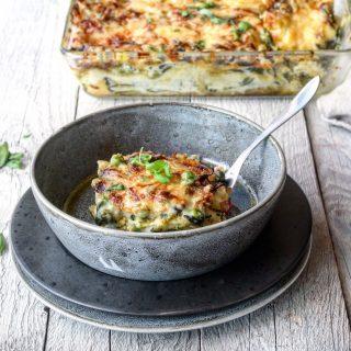 Lasagne med pesto og grønne grønnsaker
