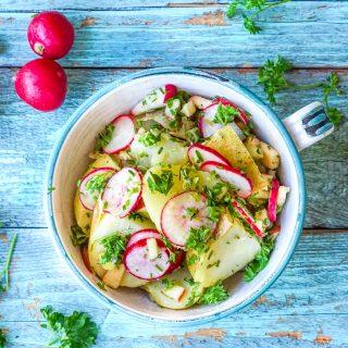 Potetsalat med friske urter