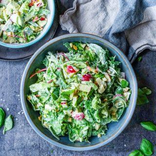 Kremet salat med reddik og eple