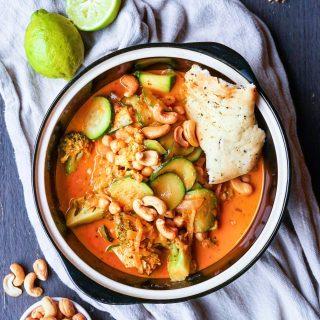 Spicy curry med squash og brokkoli